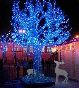 Гирлянды на деревья, Клип Лайт светодиодный